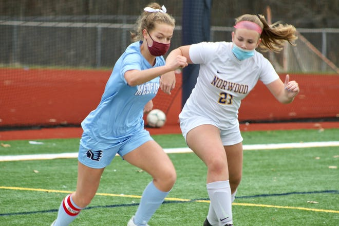 Norwood High's girls soccer team wrapped the season with a home-and-home series against Medfield. The Mustangs finished 0-10.