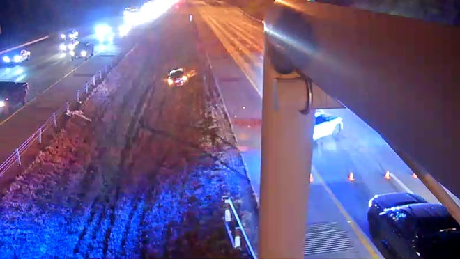 Eastbound Interstate 275 is shut down before I-471 in northern Kentucky due to a crash Monday morning, according to Campbell County dispatchers.