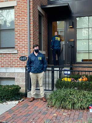 FBI were seen outside 645 S. Grant Ave. in Columbus, which is owned by PUCO chairman Sam Randazzo.