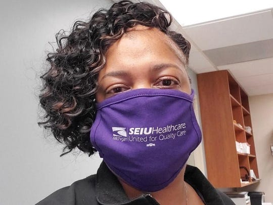 Tinitco Moore, Patient Access Representative at Mercy Health Muskegon and union steward with SEIU Healthcare Michigan.