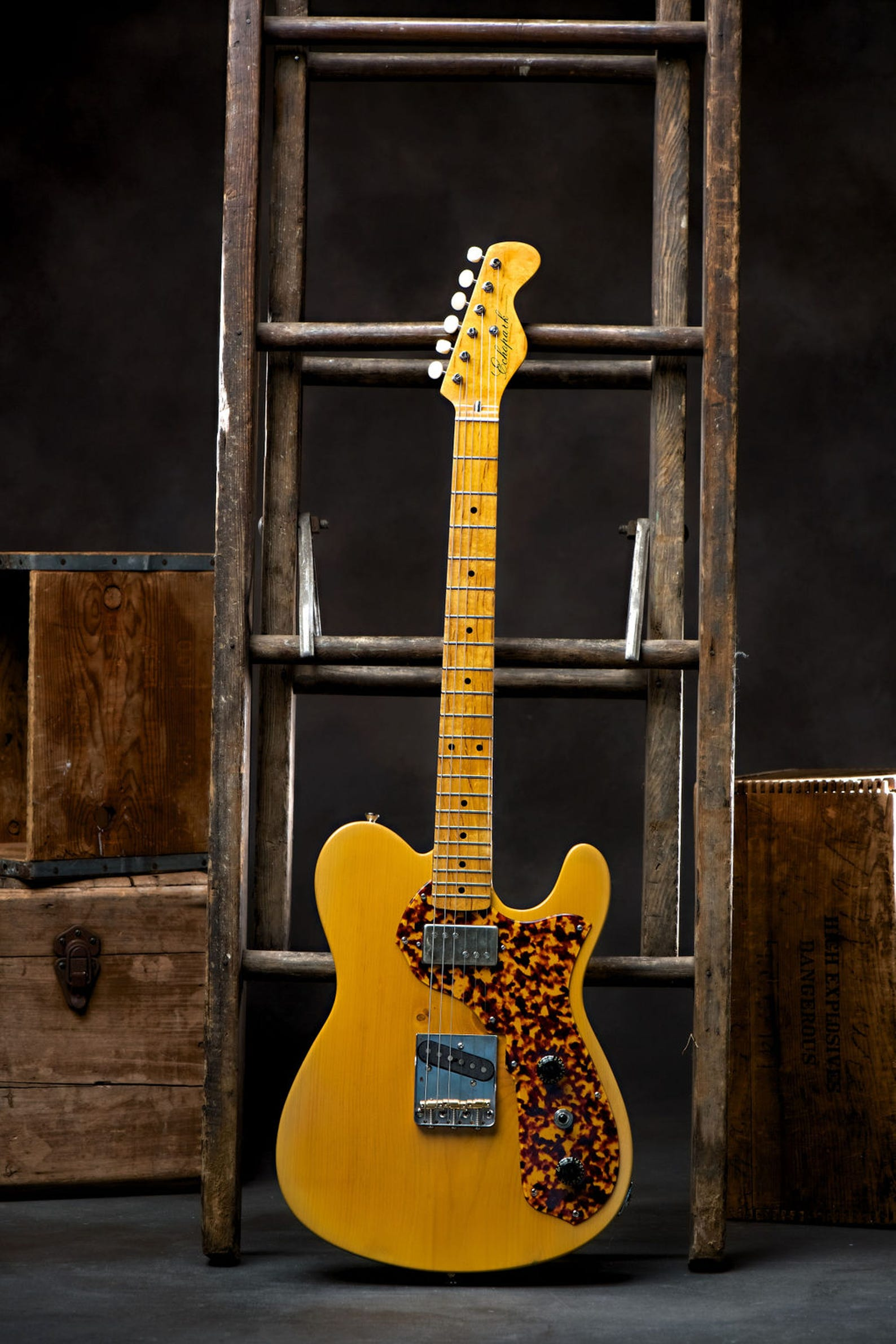 The handmade one-of-a-kind guitar Gabriel Currie made for Rolling Stones guitarist Keith Richards using pine that had been submerged in Michigan lakes for 100 years.