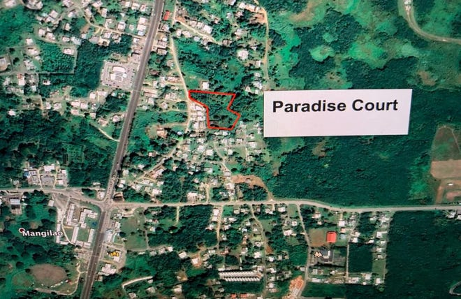 Location of new subdivision, Paradise Court, which is breaking ground in Mangilao Nov. 17.