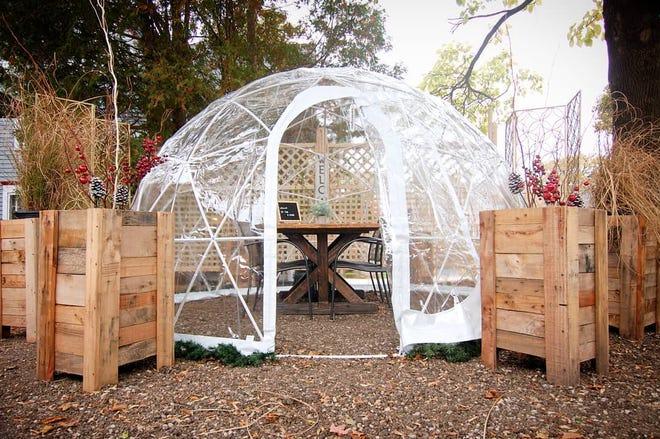 "Brandywine's three ""b-Domes"" took about three days to build."
