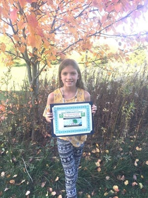 Madison Calvey, 10, of Newark, was announced as the winner of Licking County Recycling's 2020 Recycling Billboard Design Contest.