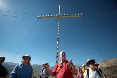 The St. Margaret's Cross in Palm Desert, a popular place to hike, has been dark for about three weeks due to an electrical problem. The church hopes to have some of the lights back on by the end of this week.
