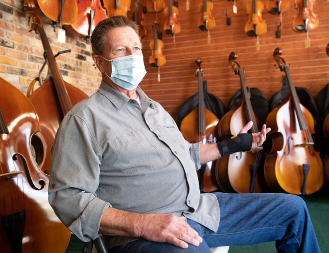 David Schmidt, the owner of Schmidt's Music in downtown Pensacola,  is hoping the city will find a fair and equitable way to address the growing homeless problem downtown. Many downtown business owners are growing frustrated at the city's inaction in dealing with the issue.