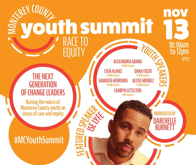 Promotional Poster for the Monterey County Youth Summit: Race to Equity