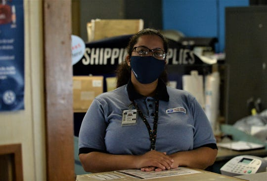 Tiara Harper has been the postmaster in Allen, Maryland, for two years.