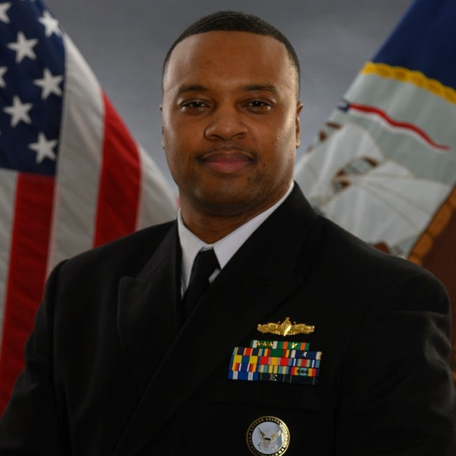 U.S. Navy Commander DJ  Jackson, Diversity and Outreach Department Lead for Navy Recruiting Command.