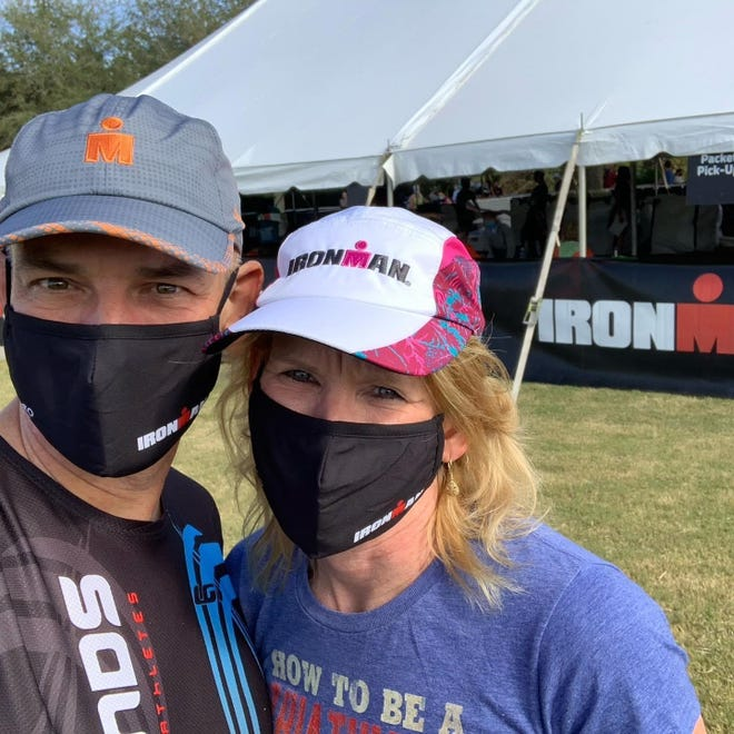 Kory and Robert Skrob pulled off a rare double when the husband and wife team completed the race on Nov. 7, 2020.