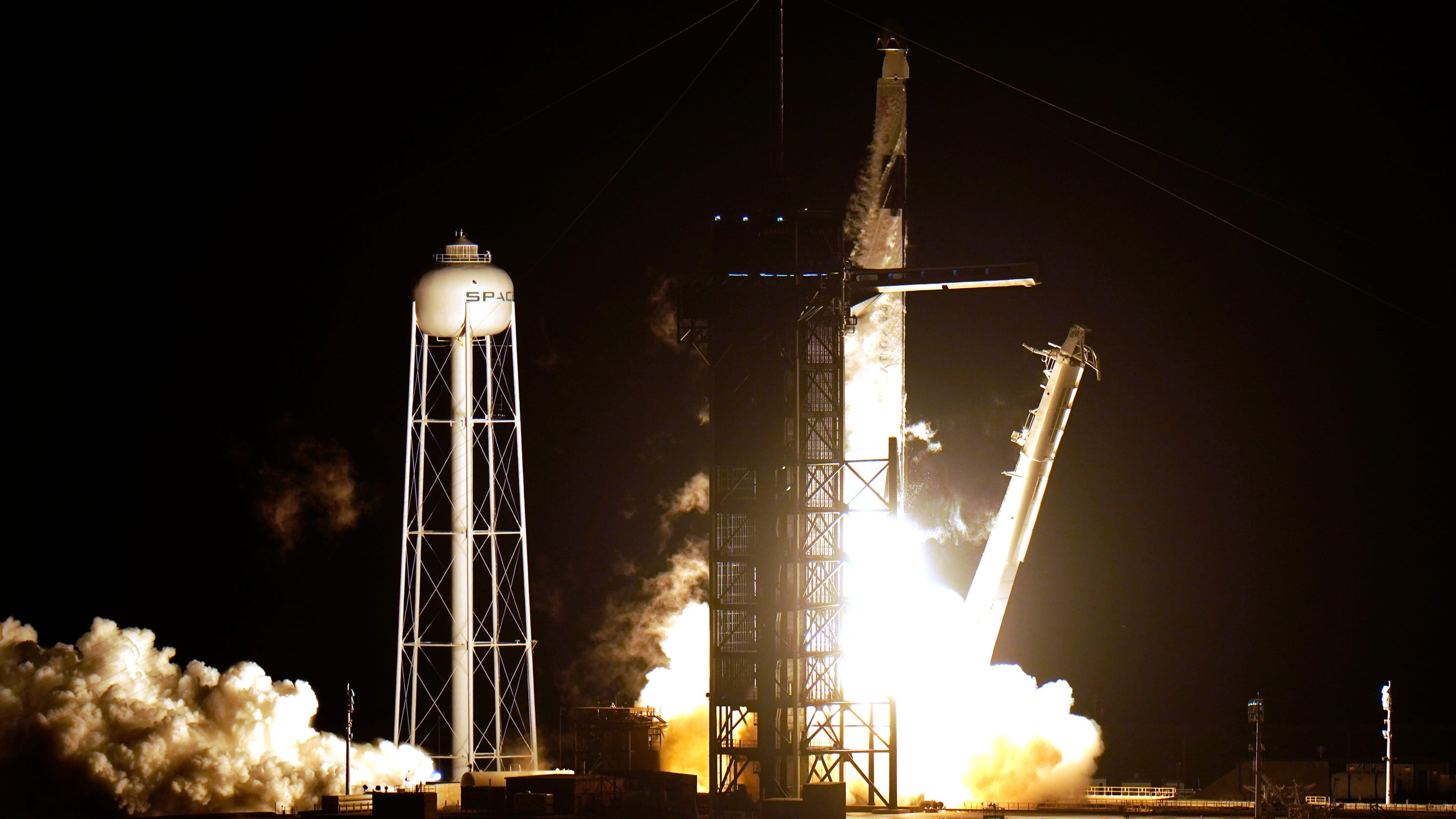 'Godspeed': 4 astronauts make history as SpaceX's 'Resilience' launches for International Space Station