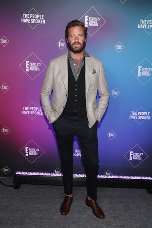 Armie Hammer attends the E! People's Choice Awards on Nov. 15, 2020.