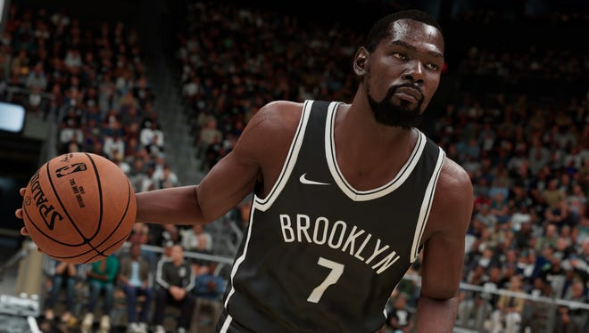 Brooklyn Nets' star Kevin Durant in 'NBA 2K21' for the PlayStation 5 and Xbox Series X/S.