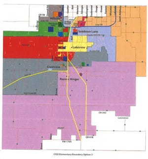 New Elementary Boundaries approved by the Canyon ISD Board of Education during Monday evening's regular meeting.