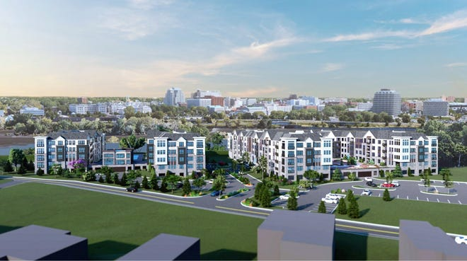 A view of two proposed apartments overlooking Trenton along Delmorr Avenue in Morrisville.