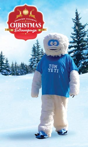 Tom Yeti is the new mascot for the Beaver County Christmas Extravaganza.