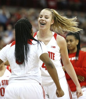Dorka Juhasz led Ohio State in scoring and rebounding her first two seasons and hopes to offer even more, especially from the perimeter, as a junior.