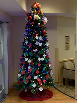 The tree at Soldiers & Sailors Memorial Hospital.