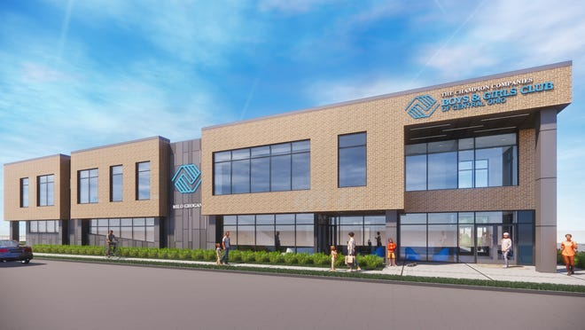 A look at a rendering of the new $13.5-million Boys & Girls Clubs of Central Ohio facility to be built on Cleveland Avenue in the Milo-Grogan neighborhood. Groundbreaking is scheduled for 2:30 p.m. Wednesday.
