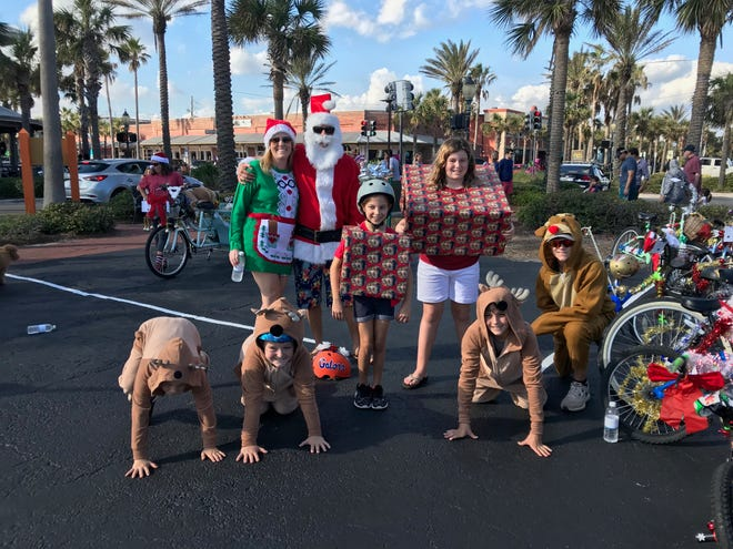 A golf cart and bicycle parade, tree lighting and visits from Santa & Mrs. Claus mark the holiday celebration at Beaches Town Center on Dec. 5.