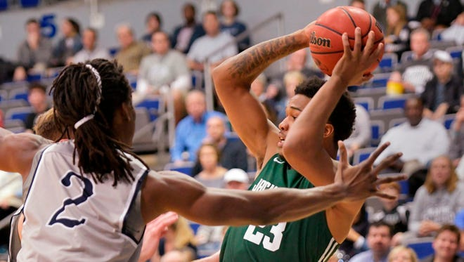 Jacksonville University guard Tyreese Davis (23) returns to the Dolphins after sitting out the 2019-20 season with a knee injury.