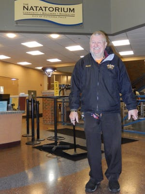 Cuyahoga Falls resident Kenny King is pictured at the Natatorium, where he goes swimming every Sunday. King said he is looking forward to assisting with the Thanksgiving meal hosted by Tom Metlovski, owner of Village Gardens Restaurant & Pub. King said he's thankful for the friends he's made in the community.