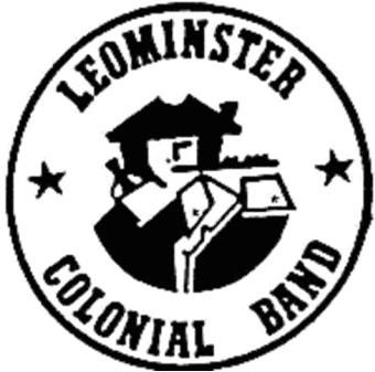 The logo for the Leominster Colonial Band.