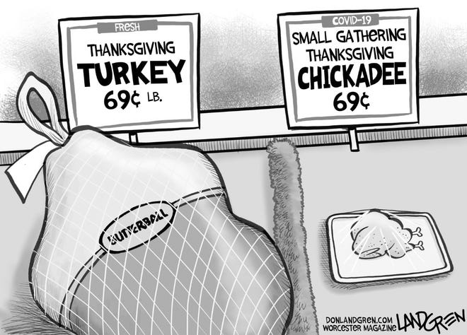 A Dave Granlund cartoon about Thanksgiving amid the pandemic