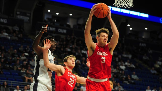 The 6-foot-8 Jimmy Boeheim (3) averaged a team-high 16.7 points and 5.6 rebounds in 21 games last season.  He has placed his name in the NCAA transfer portal, according to a university spokesman.