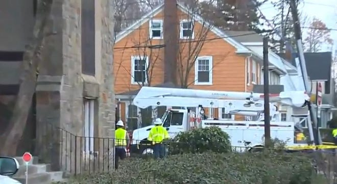 Police say a pedestrian was killed in Milton Tuesday after being hit by a utility truck.