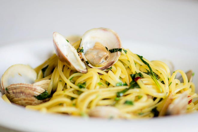 Linguini with clams is a featured pasta dish on Bice's lunch and dinner menus.