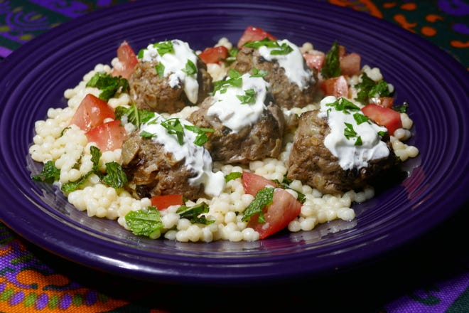 Middle Eastern Meatballs with Herbed Couscous.