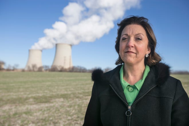 Christine Lynde, Byron school board president and a Byron Station Response Committee member, is working to keep the Byron Generating Station open.