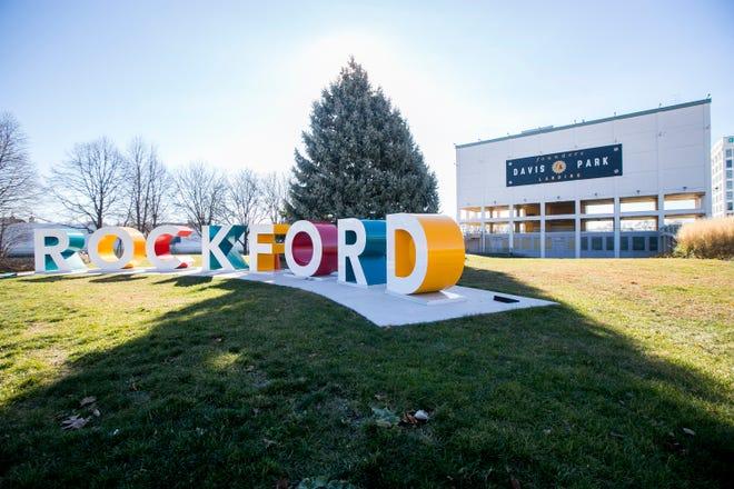 Rockford's Community Christmas Tree at Davis Park on Tuesday, Nov. 17, 2020, in Rockford.