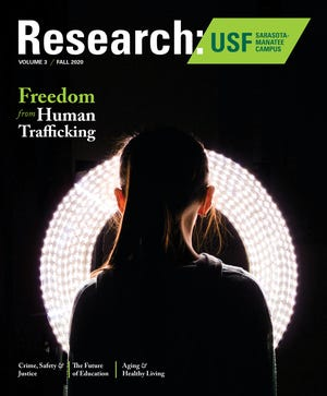 The cover of the third edition of Research: USF Sarasota-Manatee Campus.
