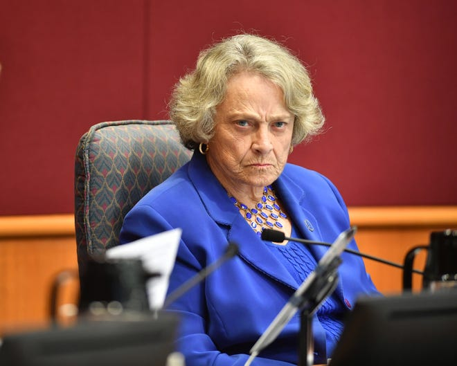 Sarasota County Commissioner Nancy Detert during the redistricting hearings in November.