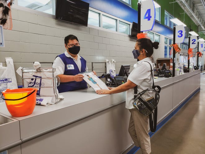 """Goodwill customers can choose to """"round up"""" their purchases to help support the nonprofit's mission of providing job training and career services."""