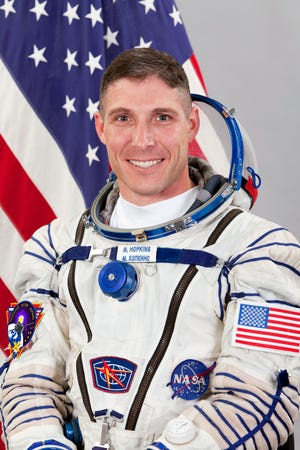 Michaell S. Hopkins in a photo from his first mission to the International Space Station in 2013.