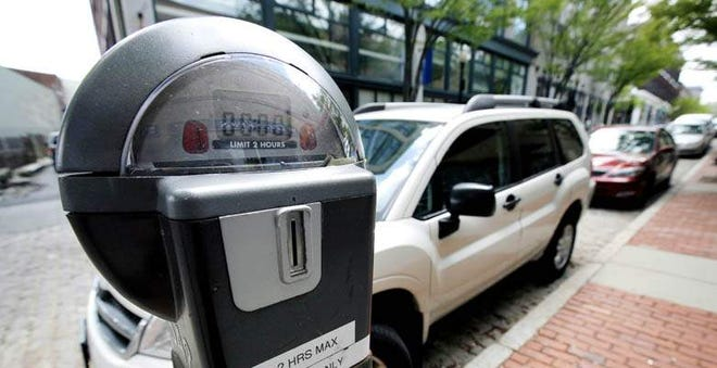 A parking meter in downtown New Bedford