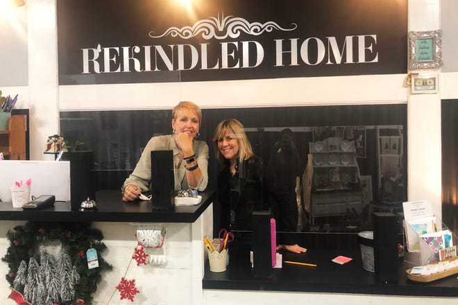 Sandy WnCronin, left, and Suzy Clasby opened Rekindled Home on South Main Street in Middleboro in October.