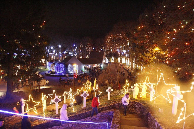 Visiting the light displays at La Salette Shrine are a beloved Christmas tradition for many families.