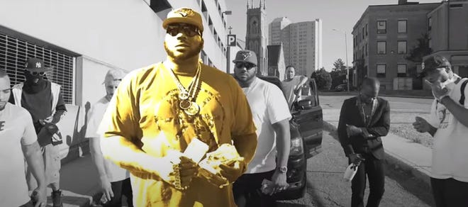 "A scene from the video ""10 Body Commandments,"" by Big Nate Allstar."