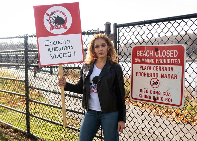 WORCESTER - Nelly Medina is fighting for community access to Coe's Pond, seen Tuesday, November 17, 2020.