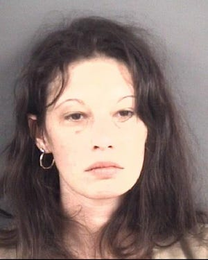 Courtney McClanahan of Parkton is charged with vehicle theft and concealing a death. [Fayetteville Police Department photo]