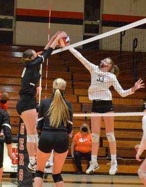 Gray's Creek and South View hit the court for a volleyball match on Monday with the Bears securing a three-set victory. It was among the first NCHSAA games since March 13.