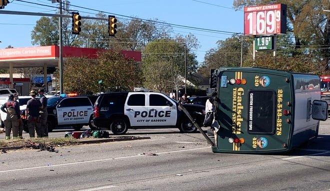 Police on Tuesday investigated a collision between a Gadsden trolley and another vehicle on East Meighan Boulevard at North Third Street.