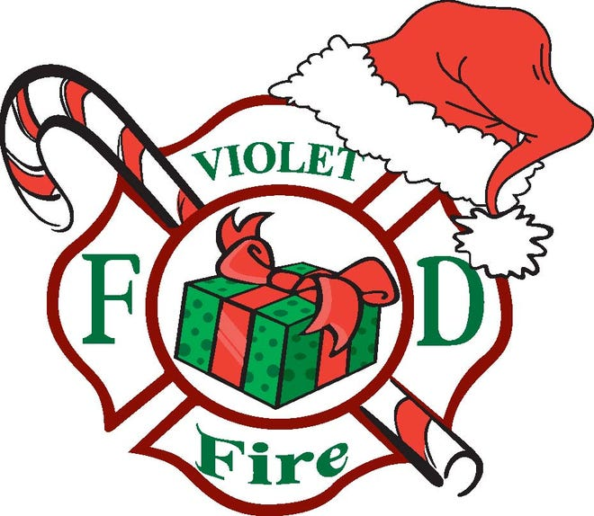 The Violet Township Fire Department toy drive logo