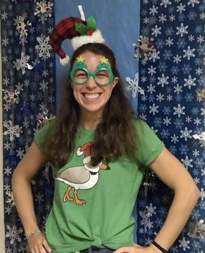 The Family to Family 2020 Holiday Program has launched to help Greater Newburyport residents in need. Shown here is Tina Los, logistics coordinator for Family to Family Holiday Program and director of Essex County Asset Builders Network, who doubles as a holiday elf.