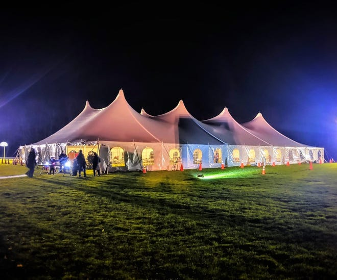 Georgetown held its Special Town Meeting outdoors under a tent on Monday night.