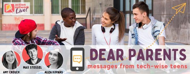 """Dear Parents: Messages from Tech-Wise Teens"" flyer."